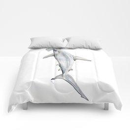 Hammerhead shark for shark lovers, divers and fishermen Comforters