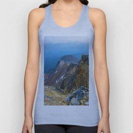 Summit of Pyramid Mountain in Jasper National Park, Canada Unisex Tank Top