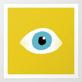 eye open Art Print