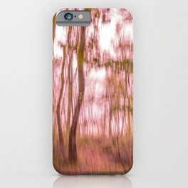 Ethereal woods, pink orange version iPhone Case