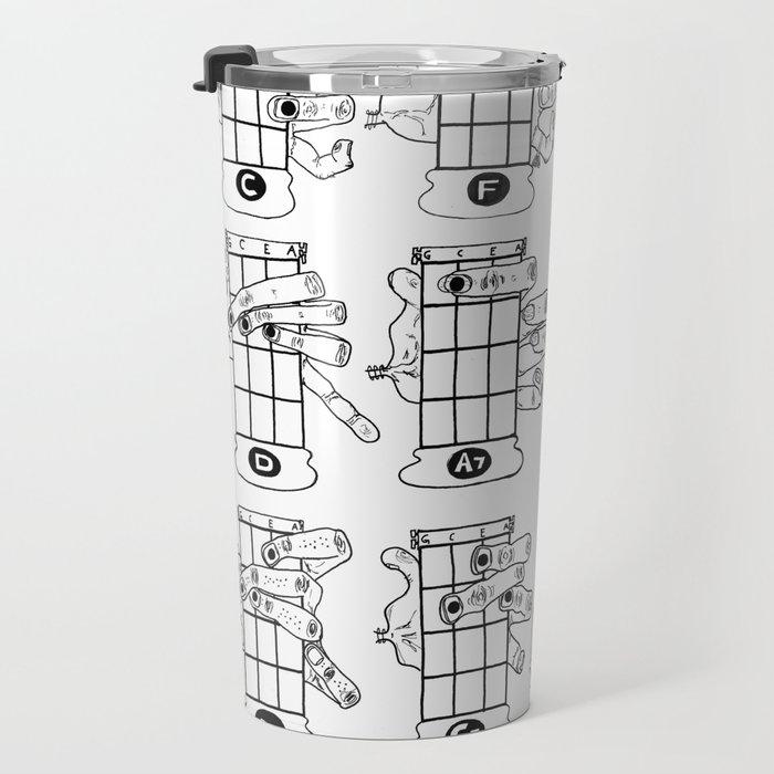 Kwk Ukulele Chords Chart 16 Basic Ukulele Chords Travel Mug By