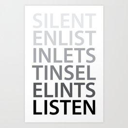 Silent Listen Art Print