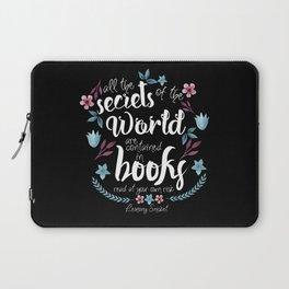 Book Secrets (Black) (Lemony Snicket Quote) Laptop Sleeve