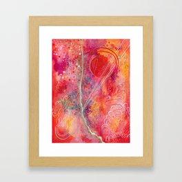 till your love is red Framed Art Print