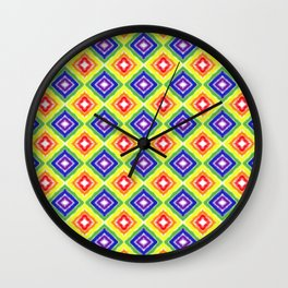 Rainbow Pride Diamonds Wall Clock
