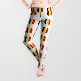 Flag of belgium with soft square Leggings