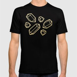 Black & Gold Crystal Pattern T-shirt