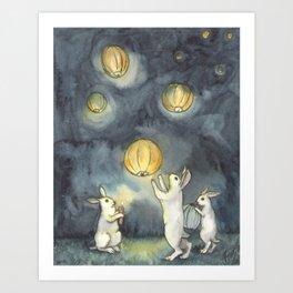 Sky Lanterns Art Print