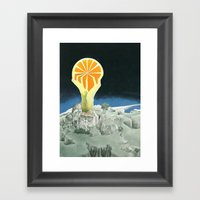 Orange city Framed Art Print