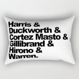 nasty women: senators Rectangular Pillow