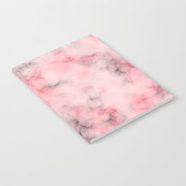 Pink and gray marble Notebook
