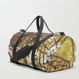 Dragon Fly Gold Duffle Bag