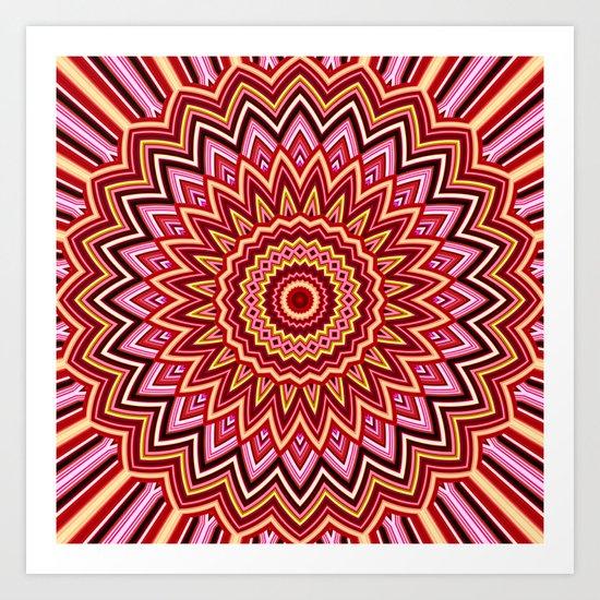 Dragon Scales Mandala Design Art Print