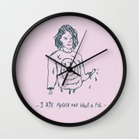 kurt cobain Wall Clocks featuring Cut Cobain by Nü Köza