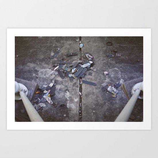 Skates Cementery Art Print