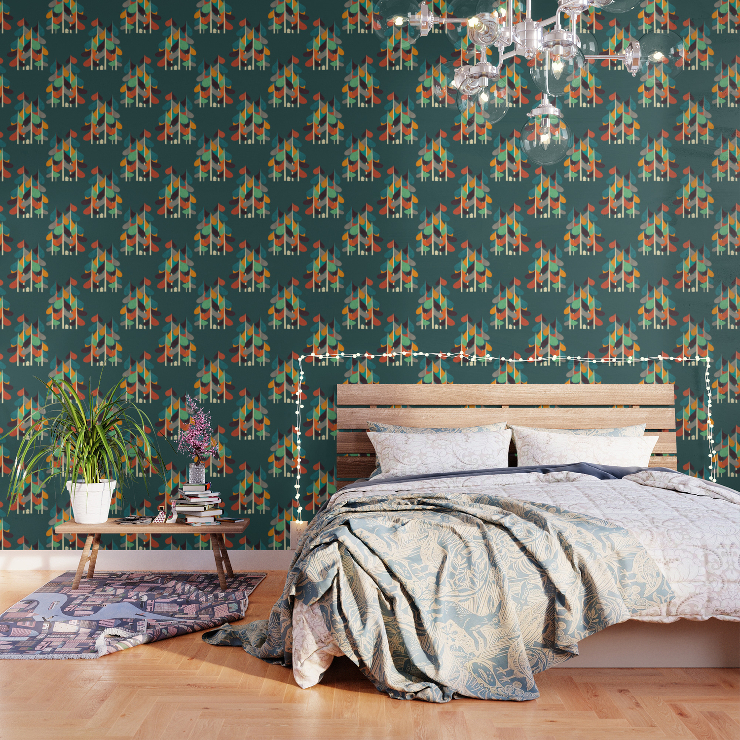 Cabin In The Woods Wallpaper By Budikwan Society6