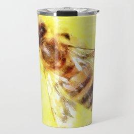 The Pollen Collector Honeybee Watercolor Travel Mug