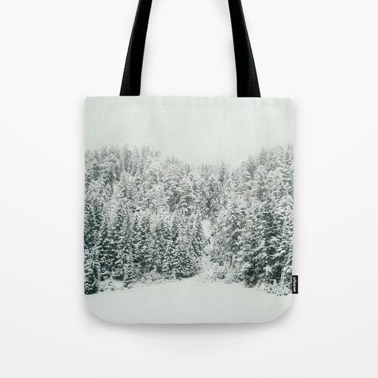 White Snowy Landcape Tote Bag