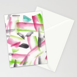 180719 Koh-I-Noor Watercolour Abstract 22| Watercolor Brush Strokes Stationery Cards
