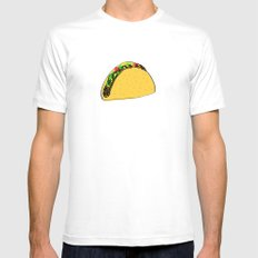 Taco Time Mens Fitted Tee White MEDIUM