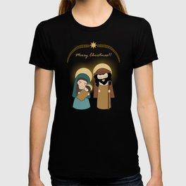 Kokeshis Nativity Scene - Merry Christmas T-shirt