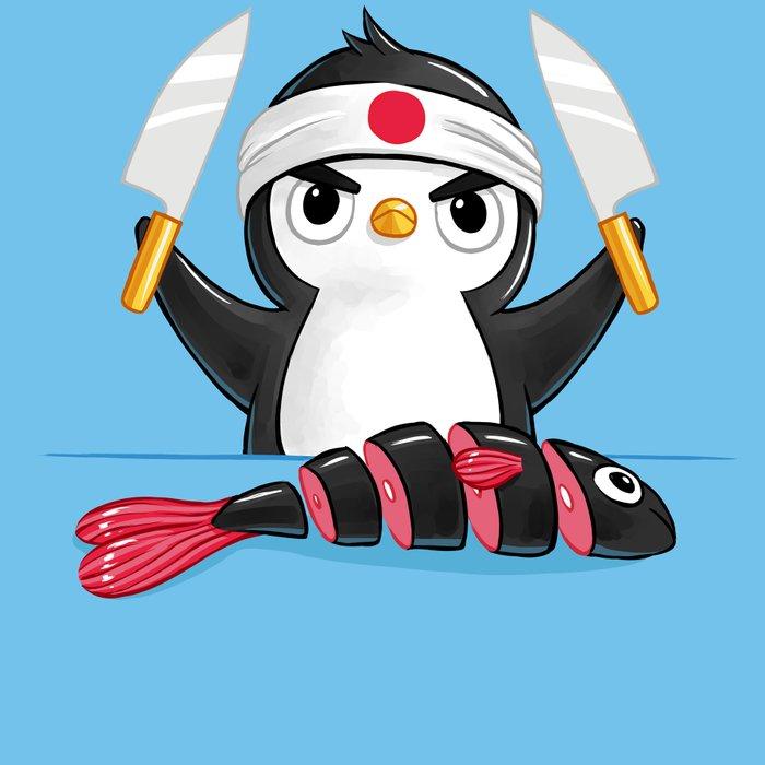 Penguin Chef Leggings