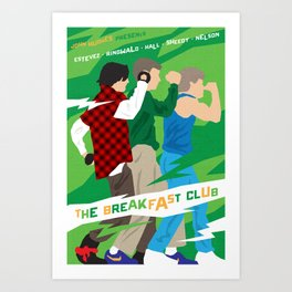 80s TEEN MOVIES :: THE BREAKFAST CLUB Art Print