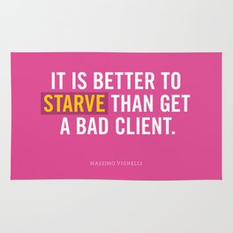 Better to Starve Rug