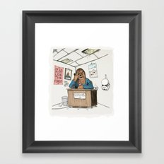 Chewwie at work Framed Art Print