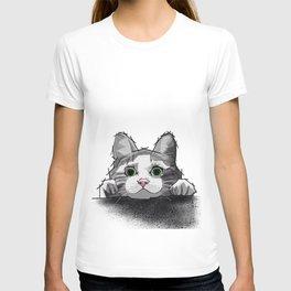 The Curious Cat 01 T-shirt