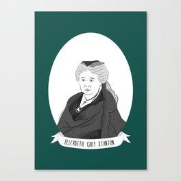 Elizabeth Cady Stanton Illustrated Portrait Canvas Print