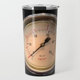 measurement - vintage industrial pressure meter Travel Mug