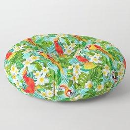 Tropical Parrot Chillin Floor Pillow