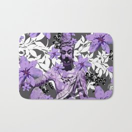CHINA ANTIQUITIES YESTERDAY MEETS TODAY IN PURPLE AND WHITE Bath Mat