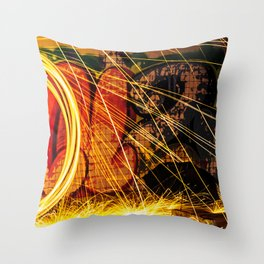 Haunted Spark Throw Pillow