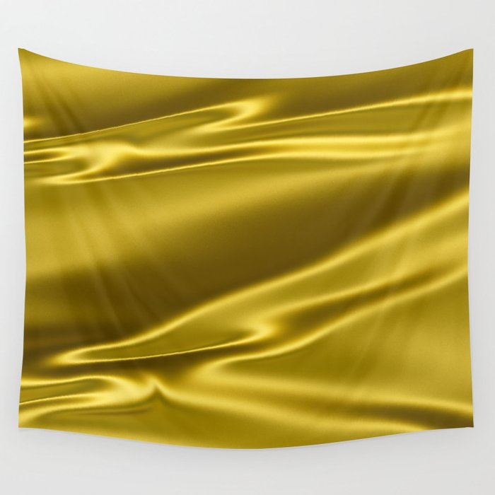 Gold satin texture Wall Tapestry