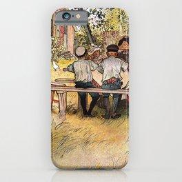 Carl Larsson Breakfast Under The Big Birch iPhone Case
