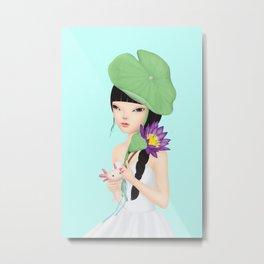 lotus in the rain Metal Print
