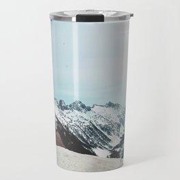 a road among the mountains Travel Mug