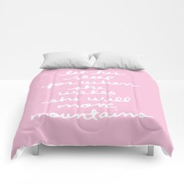 let her sleep for when she wakes she will move mountains Comforters