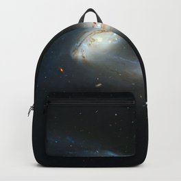 Colliding galaxies, Mice Galaxies, spiral galaxies in constellation Coma Berenices. Backpack