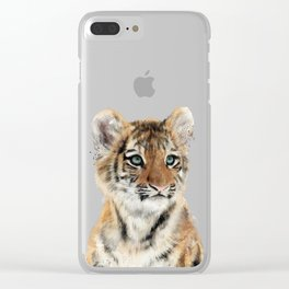 Little Tiger Clear iPhone Case