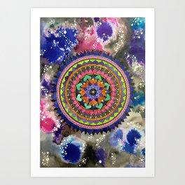 Galactic Mandala Art Print