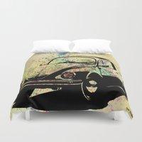 beetle Duvet Covers featuring Beetle by Del Vecchio Art by Aureo Del Vecchio