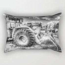 Bulldozer Machine from Earth Rectangular Pillow