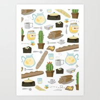 bread Art Prints featuring Bread by Ceren Aksu Dikenci