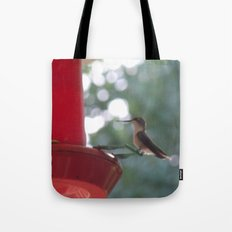 Hummingbird w/ bokeh Tote Bag