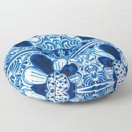 Blue & White Mexican Talavera Floor Pillow