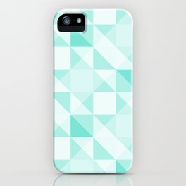 All Turquoise Triangle Pattern iPhone Case