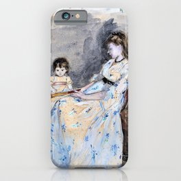 Berthe Morisot - The Artist's Sister, Edma, with Her Daughter, Jeanne - Digital Remastered Edition iPhone Case